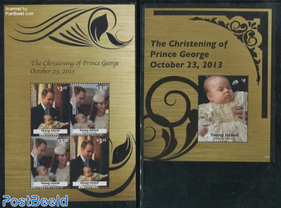 Young Island, Christening of Prince George 2 s/s
