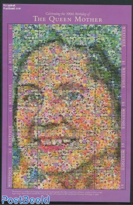 Mustique, Queen Mother, mosaics m/s