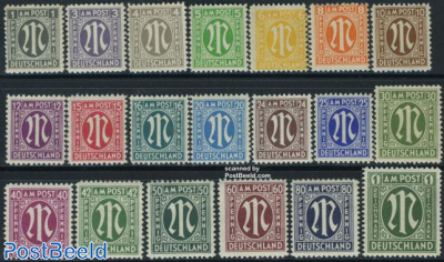 Definitives, German prints 20v