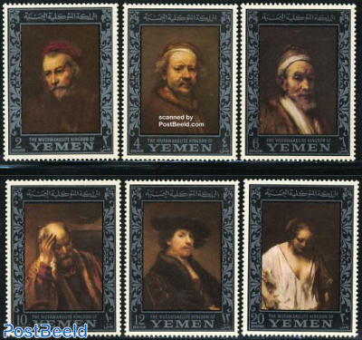 Rembrandt paintings 6v (silver as main colour)