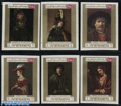 Rembrandt 6v, imperforated