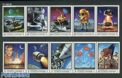 Apollo 10, moon projects 2x5v [::::]
