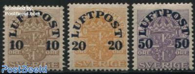 Airmail overprints 3v