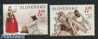 Joint issue South Korea, costumes 2v