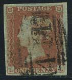 1p Redbrown, Queen Victoria